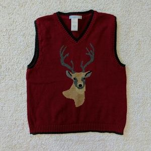 Janie and Jack boy's sweater vest. Red. Size 5.